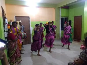 Jhumur Dance permorming by locals